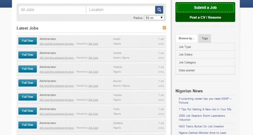 Nigerian Jobs Market